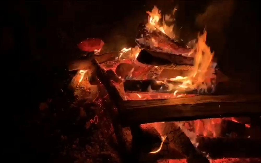 Schwitzhütte Feuer